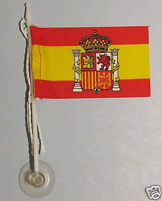Spain, España MiniPole Car / Window Flag NEW