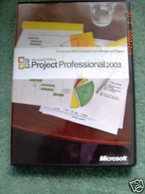 Microsoft Project 2003 Professional  Full Retail  Sku H30 00428