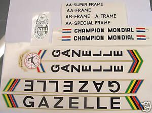 Gazelle-set-of-decals-vintage-2