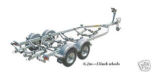 DUNBIER-NEW-6-2M-GALVANISED-Tandem-Boat-Trailer