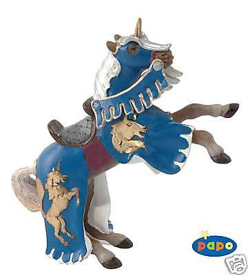 Papo Reared Up Blue Horse With Unicorn Horn 39249