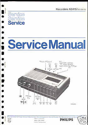 Philips Original Service Manual für Recorder N 2415
