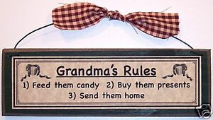 GRANDMAS-RULES-funny-grandmother-gifts-Signs-prim-Country-Home-Decor-plaques