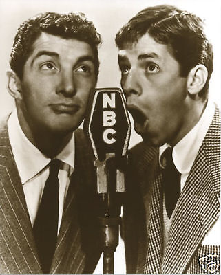 The Classic Martin & Lewis Comedy Team Photo Dean Martin Jerry Lewis NBC Radio