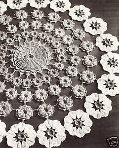 Vintage irish crochet flower floral doily motif pattern ebay image is loading vintage irish crochet flower floral doily motif pattern dt1010fo