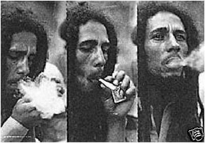 "BOB MARLEY REGGAE Triple Smoke 29""X43"" Cloth Poster Flag Fabric Tapestry-New!"