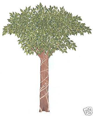 TREE CREATIVE WALL ART TRANSFER DECOR WALL ART HOME DECOR TATOUAGE