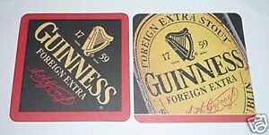 MALAYSIA-Beer-Mat-Coaster-GUINNESS-STOUT-Label-Foreign-Extra-Vintage-RARE