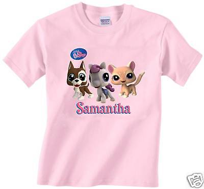New custom personalized littlest pet shop pink t shirt for Custom pet t shirts
