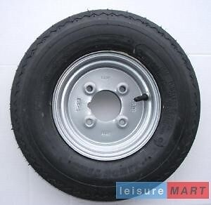 "400x8 inch 4.00x8 inch trailer wheel with 4 ply high speed tyre 4"" pcd (LMX263)"