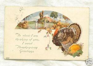 Old-Postcard-1925-Thanksgiving-Turkey-by-Pumpkin-Thinki