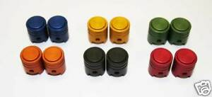 NEW-RFX-PISTON-DUST-VALVE-CAPS-MX-MTB-BIKE-CAR-ORANGE