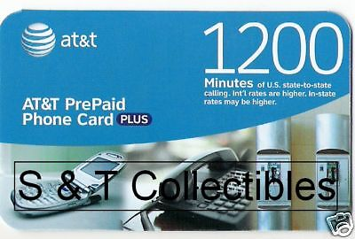 New 1200 Minute A T & T PrePaid Phone Calling Card