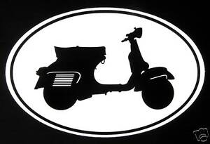 VESPA GS 160 decal Euro oval vinyl bumper sticker piaggio motor scooter italia