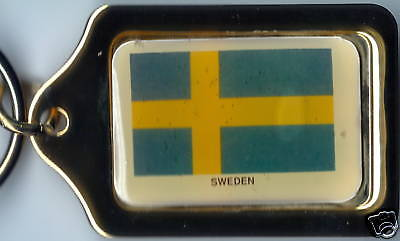 Sweden Solid Brass Key Chain NEW