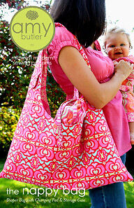 Amy Butler Nappy Bag, Changing Pad,Storage Case PATTERN
