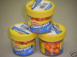 Berkley Powerbait Magnum Power Eggs 3 pack Fl Orange FEFO Trout Fishing Bait