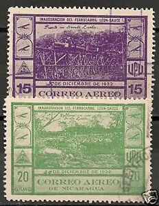 Nicaragua 1932 YV Airmail 47-48 CANC VF