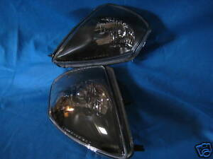 NEW-00-02-MITSUBISHI-ECLIPSE-OEM-STYLE-HEADLIGHTS-HEADLAMPS-BLACK-PAIR-SET-NEW