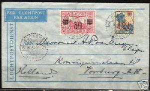 Neth.Indies 1931 airmailcover Soengei-Rampah to Neth.