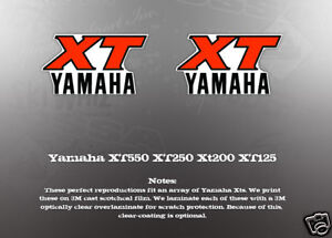 yamaha xt550 xt250 xt200 xt125 gas tank decals like nos. Black Bedroom Furniture Sets. Home Design Ideas