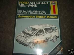 1986 1992 ford aerostar mini van repair service manual ebay. Black Bedroom Furniture Sets. Home Design Ideas