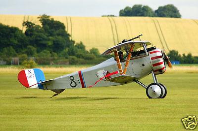 Giant 1/5 Scale French WW-I  Nieuport 27 Biplane Plans, Templates, Instructions