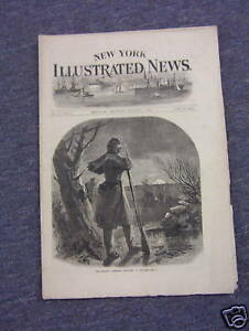 1862-New-York-ILLUSTRATED-NEWS-Thomas-NAST-Civil-War-Sentrys-Christmas-Rare