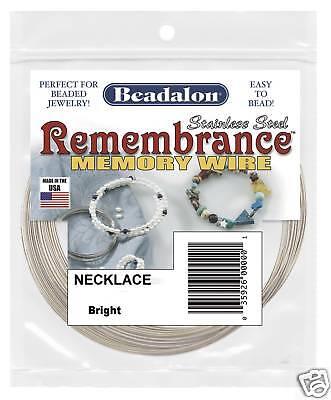 Memory Wire Beadalon Necklace Stainless Steel 1oz Beads Beading Jewelry Supply