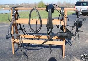 CS03-14ab Draft horse biothane single driving harness
