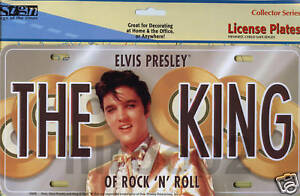 Elvis Presley The King of Rock METAL LICENSE PLATE NEW!