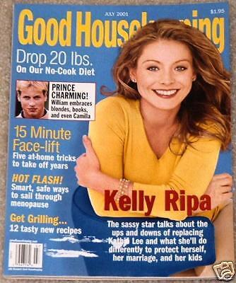 Good Housekeeping 2001 Kelly Ripa Prince William Fruit