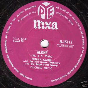 1957-UK-8-PETULA-CLARK-78-034-ALONE-034-PYE-NIXA-N-15112-EX