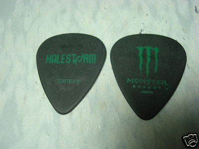 HALESTORM black with green logo Guitar Pick 2009 Tour on Rummage