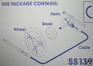 Genuine Teleflex Safe T Quick Boat Heavy Duty Steering Kit System 13ft - New