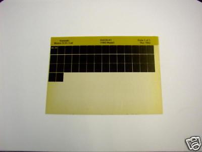 KAWASAKI KH125 KH 125 K1 GEN PART CATALOGUE MICROFICHE