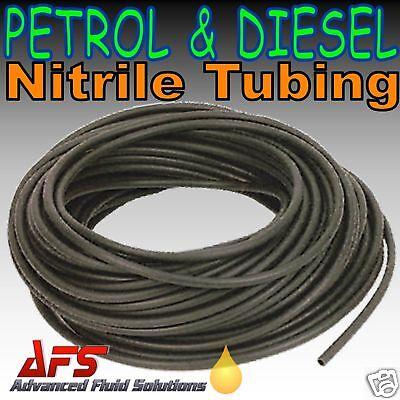3mm 1/8 I.D Nitrile Rubber Black Smooth Fuel Tube Petrol Diesel Oil Line Hose