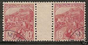 Monaco-1919-YV-29-GUTTERPAIR-CANC-VF