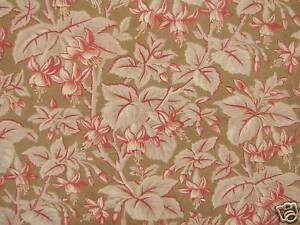 Antique-French-printed-fabric-fuschia-design-cotton-light-weight-material-c1880