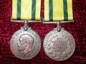 Replica aged Territorial Force War Medal Full Size