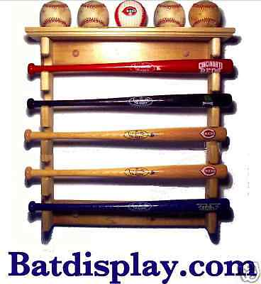 New Ash Wood Mini bat & baseball souvenir display rack