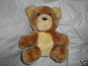 DAKIN BROWN TAN STUFFED BEAR 1981 VINTAGE NUTSHELLS