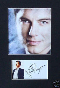 John Barrowman Signed Mounted Photo Display #2