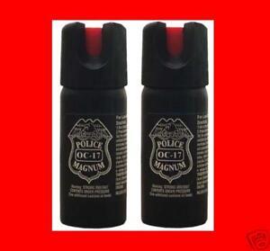 2-3-oz-Ounce-Pepper-Spray-OC17-POLICE-STRENGTH-NEW
