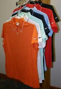Nike-Golf-Womens-DRI-FIT-Johnny-Polo-Sport-Shirts-Ladies-Size-S-M-L-XL-2XL