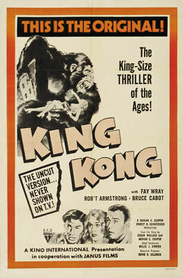 King Kong Fay Wray 1933 Vintage movie poster print 16