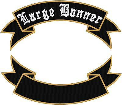 CUSTOM EMBROIDERED MOTORCYCLE ROCKER BANNER PATCH 14