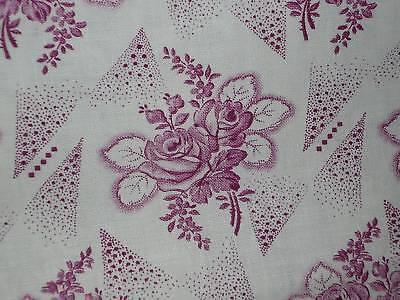 Altes   Bauernstoff  Bauernbettwäsche - Stoff  Rosen Pink  130 cm / 50 cm  NEU
