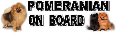 POMERANIAN ON BOARD Car Sticker By Starprint