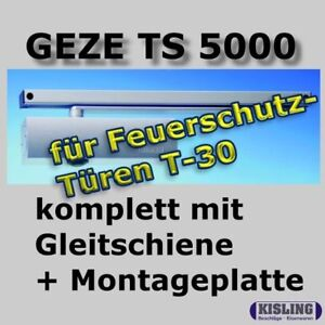 geze ts 5000 t rschliesser gleitschiene montageplatte silberfarbig ebay. Black Bedroom Furniture Sets. Home Design Ideas